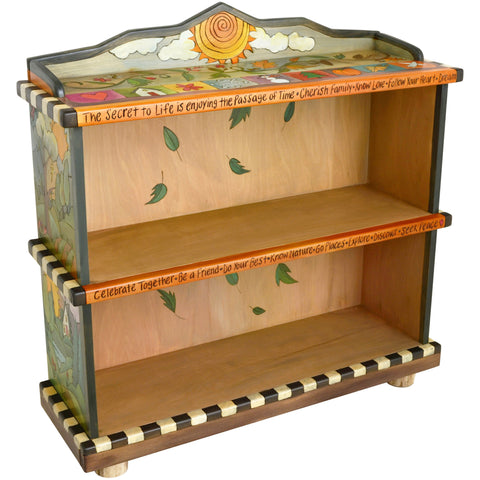 artistic bookcases, artisan crafted bookcases, designer bookcases -