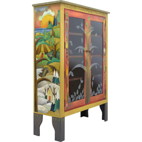 Sticks Bookcase with Glass Doors BCS005 013927 Artistic Artisan Designer Bookcases