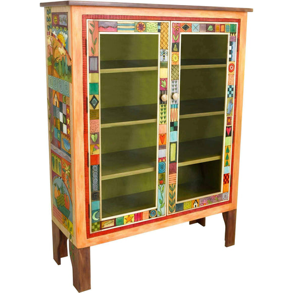 Sticks Bookcase with Glass Doors BCS005 02046 Artistic Artisan Designer Bookcases