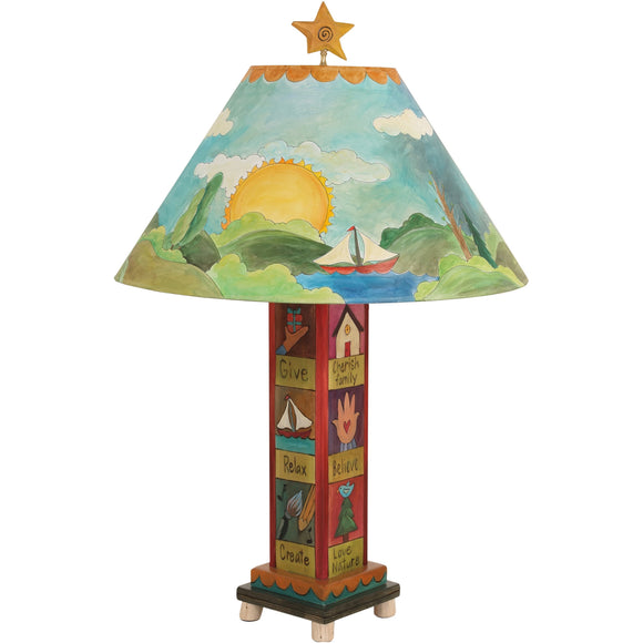 Box Table Lamp by Sticks BTL001-S312641, Artistic Artisan Designer Lamps