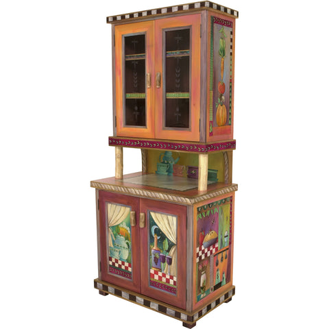 China Hutch Cabinet by Sticks CPD001-D11044, Artistic Artisan Designer Cabinets