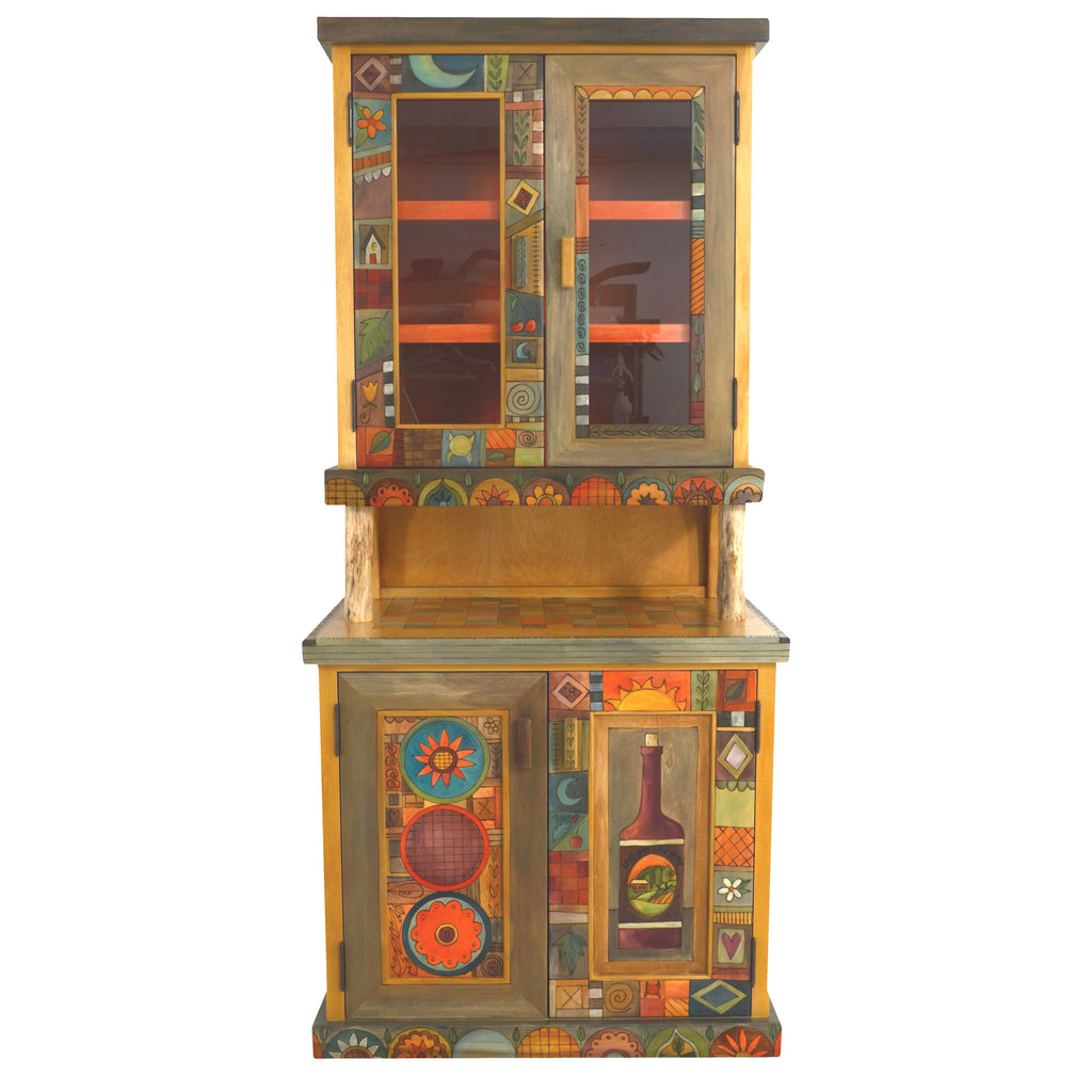 Sticks Cabinet, China Hutch CPD001-D73884, Artistic Artisan Designer Cabinets