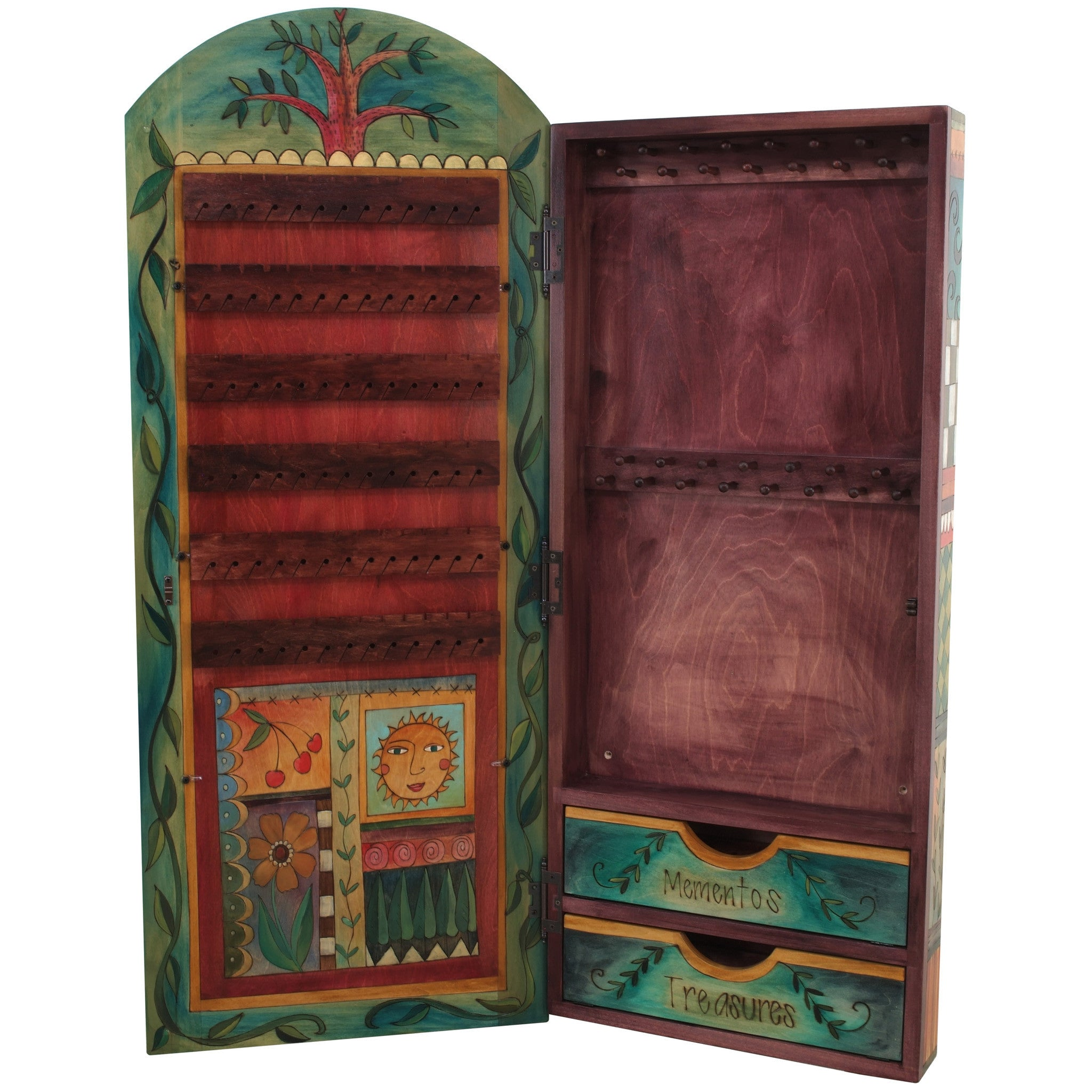 Wall Mount Jewelry Cabinet By Sticks Cpd006 S310477 Artistic Artisan Designer Cabinets Sweetheart Gallery Contemporary Craft Gallery Fine American Craft Art Design Handmade Home Personal Accessories