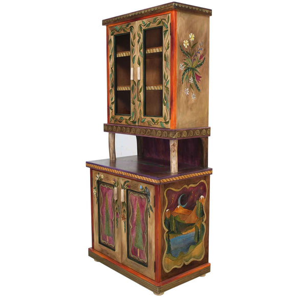 Sticks China Hutch CPD001 06290 Artistic Artisan Designer China Cabinets