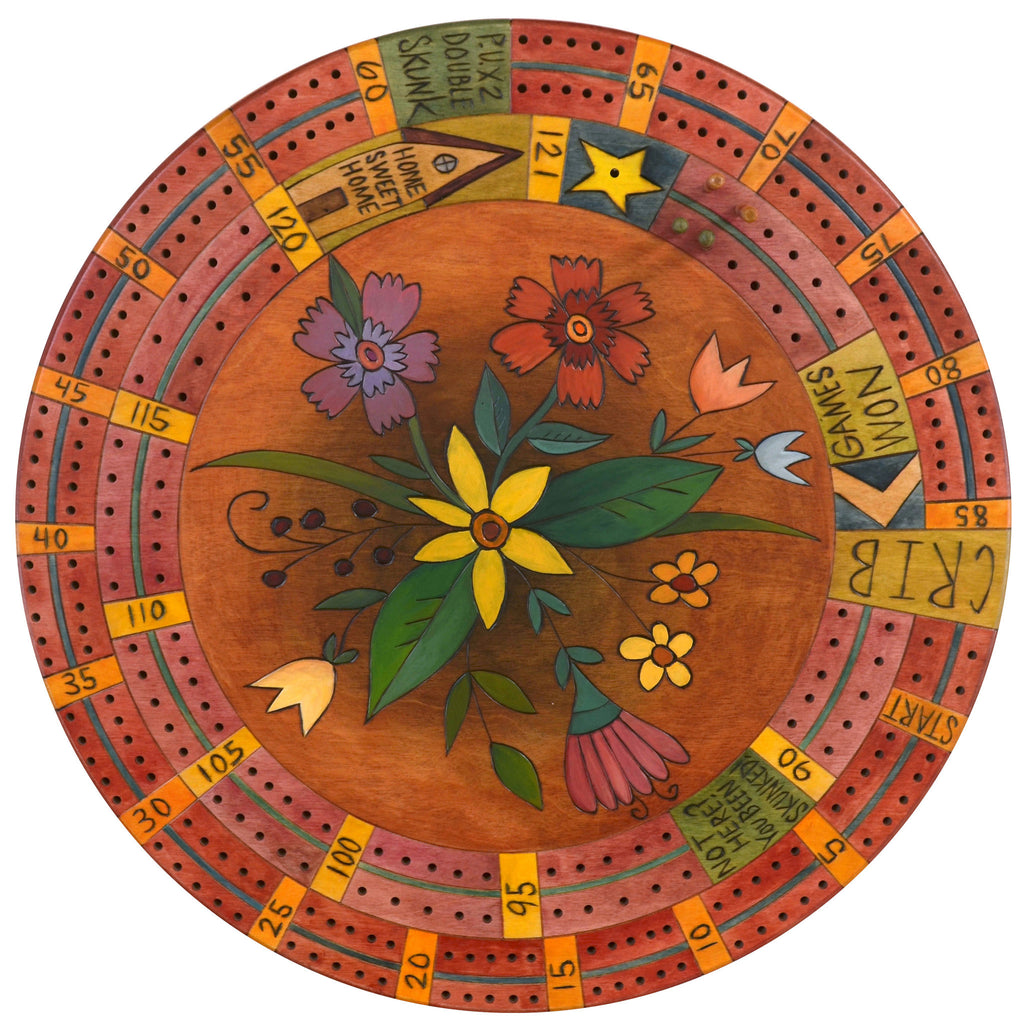 Cribbage Lazy Susan by Sticks LZY001C-D76965, Artistic Artisan Designer Games