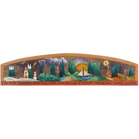 Sticks Door Topper TPR001-D11317, Artistic Artisan Designer Door Topper
