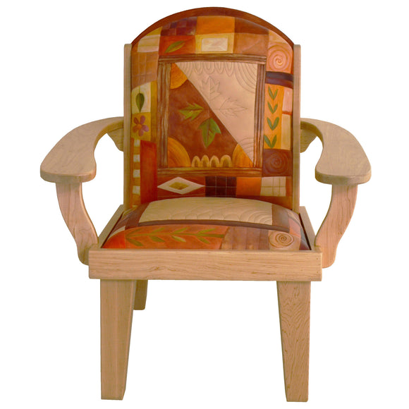 Sticks Friedrichs Chair and Ottoman CHR075, OTT002-D73667, Artistic Artisan Designer Seating and Chairs