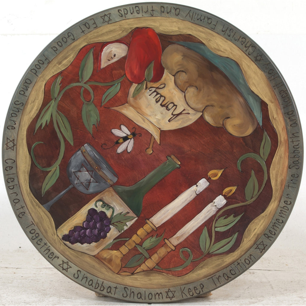 Small Lazy Susan by Sticks, Judaica, LZY001-S33198, Artistic Artisan Designer Judaica