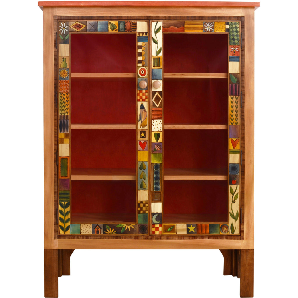 Designer Bookcases sticks large double door bookcase bcs005-d70951, artistic artisan