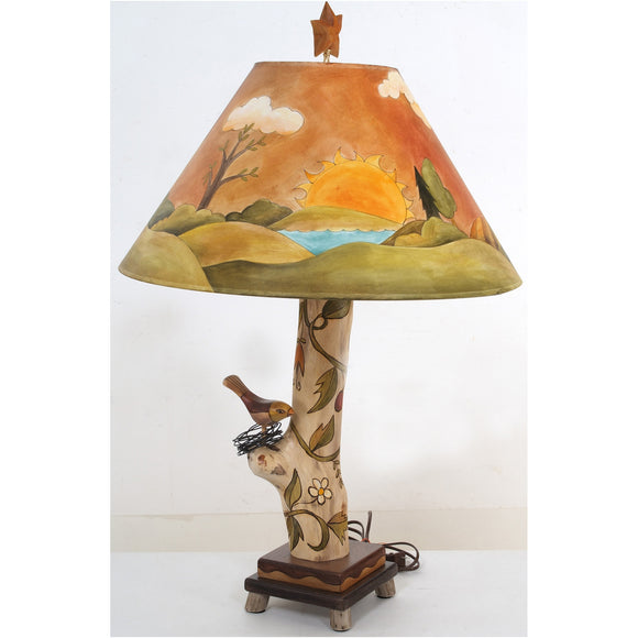 Log Table Lamp by Sticks LGT001 S311845, Artistic, Artisan, Designer Lamps