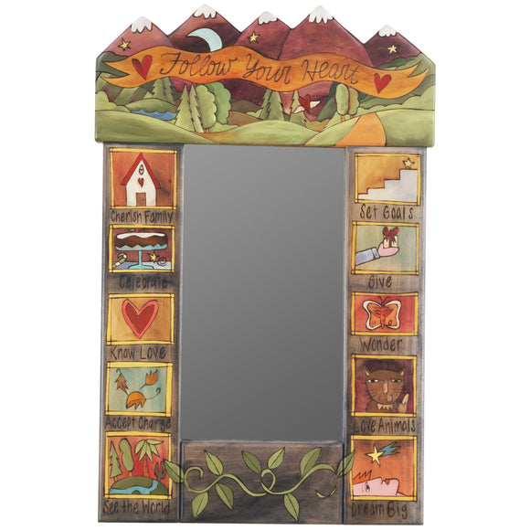 Sticks Mountain Top Mirror MIR049, MIR052-S310552, Artistic Artisan Designer Mirrors