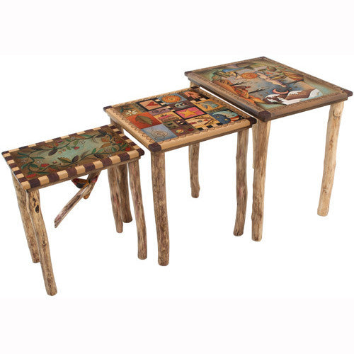 Sticks Nesting Tables END007 S315091a, Artistic Artisan Designer Tables