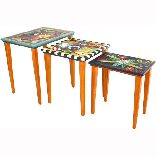 Sticks Nesting Tables END013 D72734a, Artistic Artisan Designer Tables