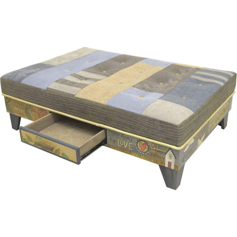 Sticks Ottoman with Storage Drawer OTT008 013938 Artistic Artisan Designer Ottomans