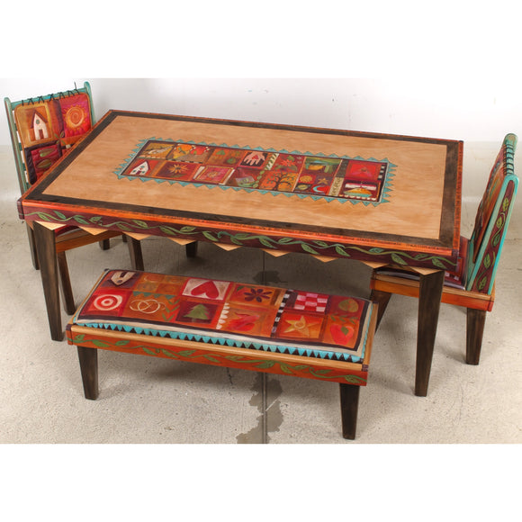 Sticks Rectangular Dining Sticks Rectangular DiningTable with Milled Legs DIN008, DIN10, DIN017, DIN019-S32541, Artistic Artisan Designer Tables