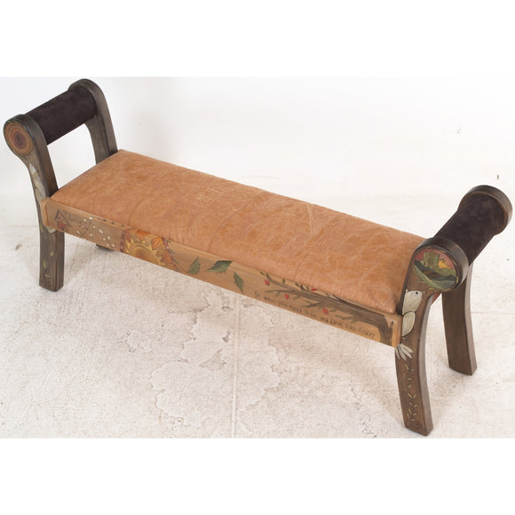 Sticks Roll Arm Bench, BEN050-S315477, Artistic Artisan Designer Benches