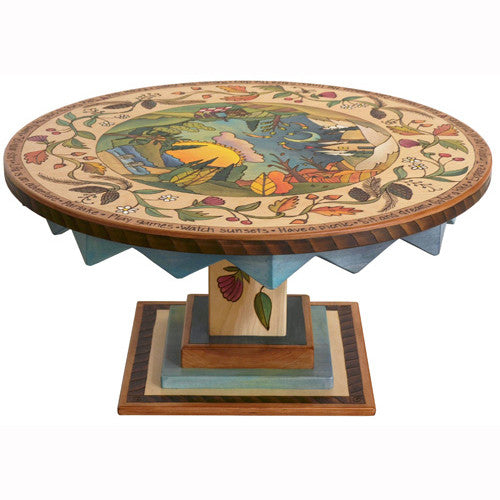 Sticks Round Coffee Table CBT032 D77063, Artistic Artisan Designer Tables