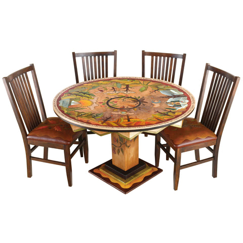 Sticks Round Dining Table DIN-D73626, Artistic Artisan Designer Tables