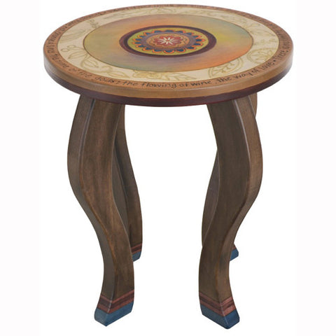 Round End Table By Sticks END002 D75922