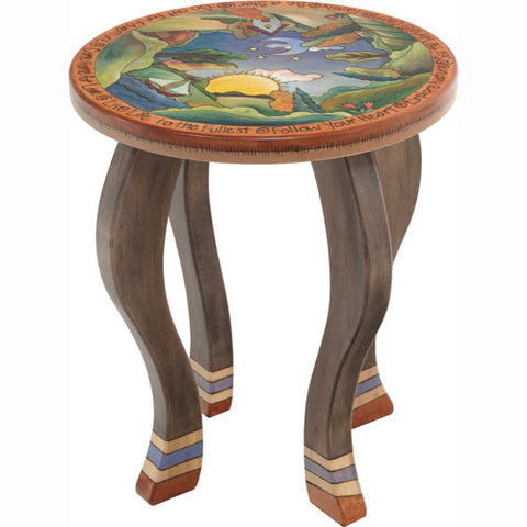 Sticks Round End Table END002 D78194, Artistic Artisan Designer Tables