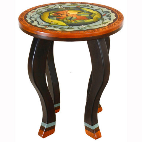 Sticks Round End Table End002 D78190, Artistic Artisan Designer Tables