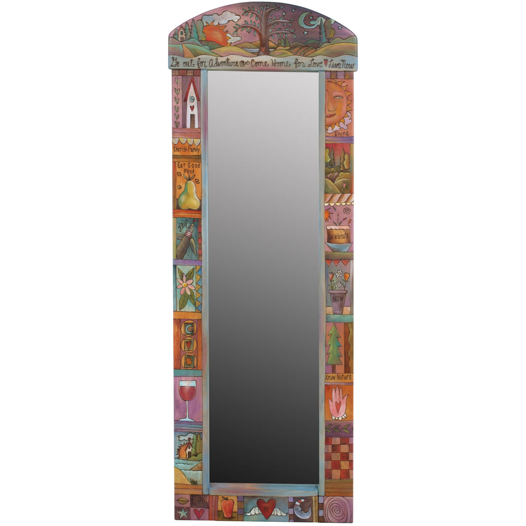 Rounded Wall Mount Wardrobe Mirror by Sticks MIR046-S310532