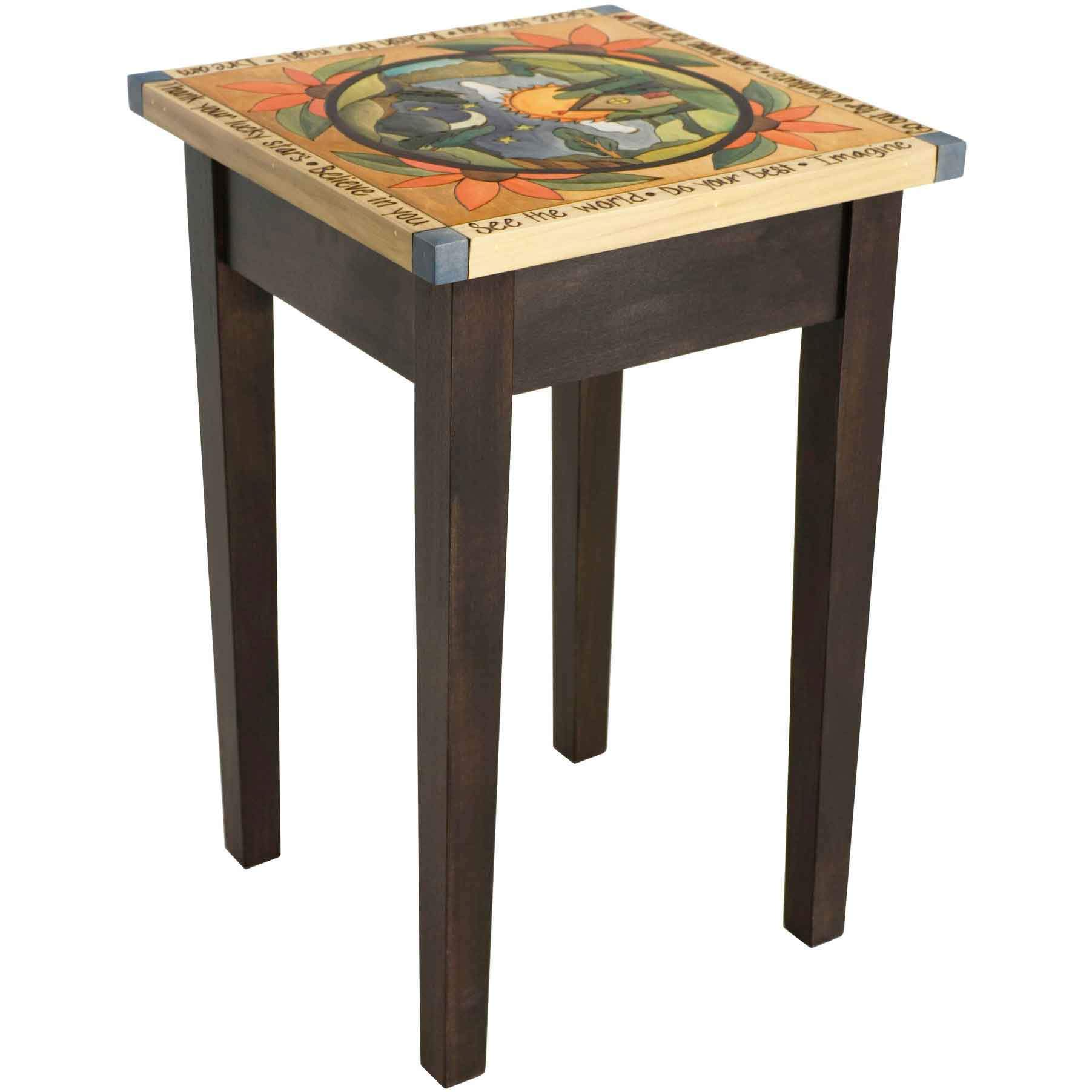 Sticks Small Square End Table End016 00711 Artistic Artisan Designer End Tables Sweetheart Gallery Contemporary Craft Gallery Fine American Craft Art Design Handmade Home Personal Accessories