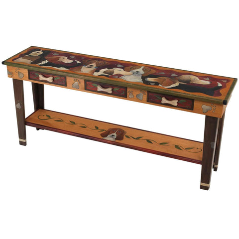 Sticks Sofa Table with Three Drawers SFA024 Artistic Artisan Designer Sofa Tables