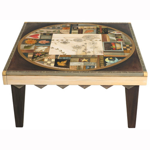 Sticks Square Coffee Table CBT009 D77812, Artistic Artisan Designer Tables