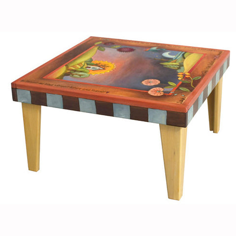 Sticks Square Coffee Table CBT009 D79037, Artistic Artisan Designer Tables