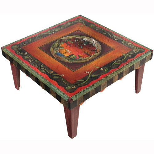 Sticks Square Coffee Table CBT009 S311868, Artistic Artisan Designer Tables