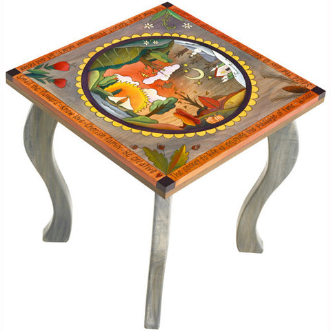 Sticks Square End Table END006 D7223, Artistic Artisan Designer Tables