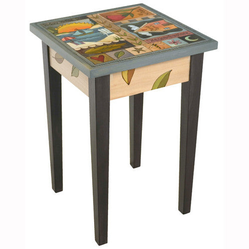 Sticks Square End Table END016 D78833, Artistic Artisan Designer Tables
