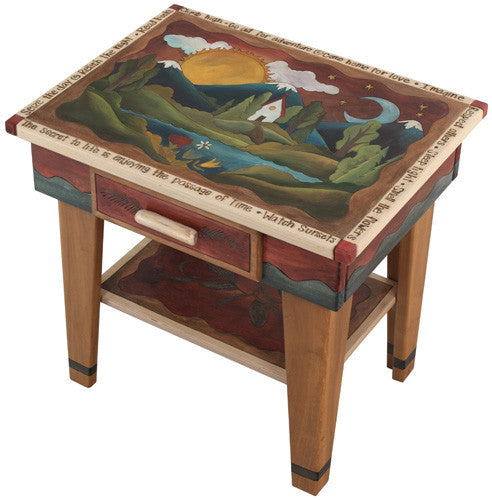 Sticks Accent Night Table NGT006 S36356, Artistic Artisan Designer Tables