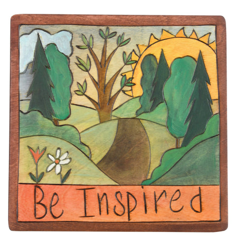 Sticks Be Inspired Plaque PLQ001-D700061, Artistic Artisan Designer Plaques Wall Art With Inspiration Words, Phrases, and Sayings