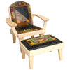 Sticks Friedrichs Chair & Ottoman CHR075, OTT002-D73273, Artistic Artisan Designer Seating and Chairs