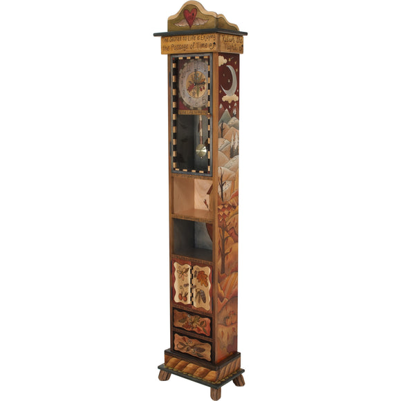 Sticks Grandfather Clock CLK001, S33556, Artistic Artisan Designer Clocks