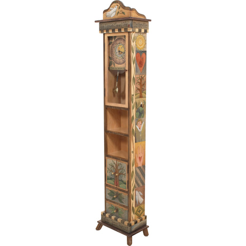Sticks Grandfather Clock CLK001, S37822, Artistic Artisan Designer Clocks