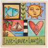 Sticks Plaque Live, Love, Laugh PLQ001-S317488, Artistic Artisan Designer Plaques Wall Art With Inspiration Words, Phrases, and Sayings