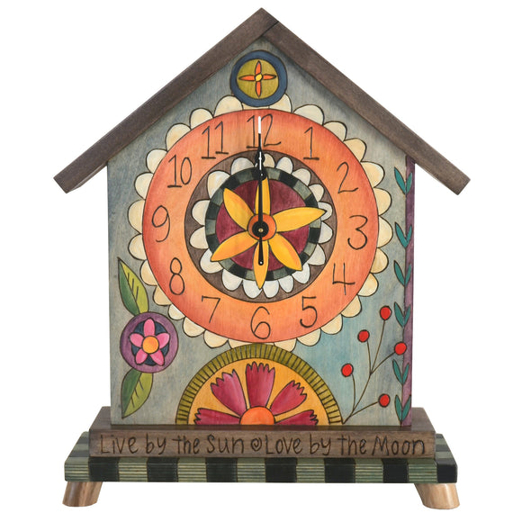 Sticks Mantel Clock CLK010, D76178, Artistic Artisan Designer Clocks