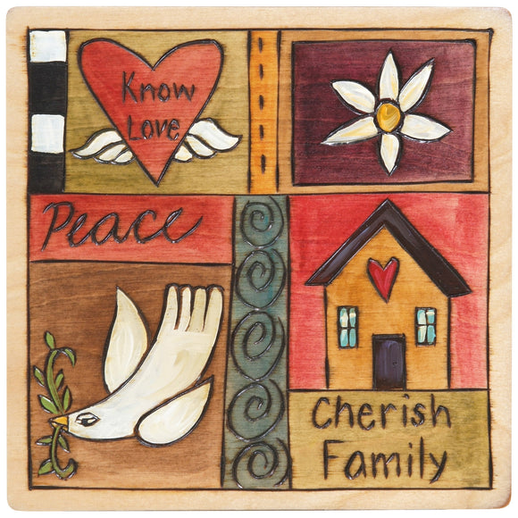 Sticks Plaque Quilt Style PLQ001-S36346, Artistic Artisan Designer Plaques Wall Art With Inspiration Words, Phrases, and Sayings