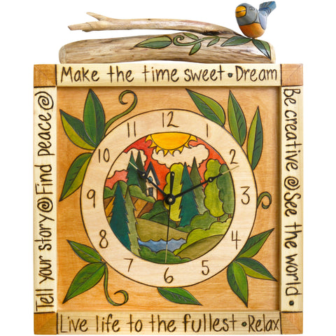 Sticks Wall Clock CLK006, D72635, Artistic Artisan Designer Clocks