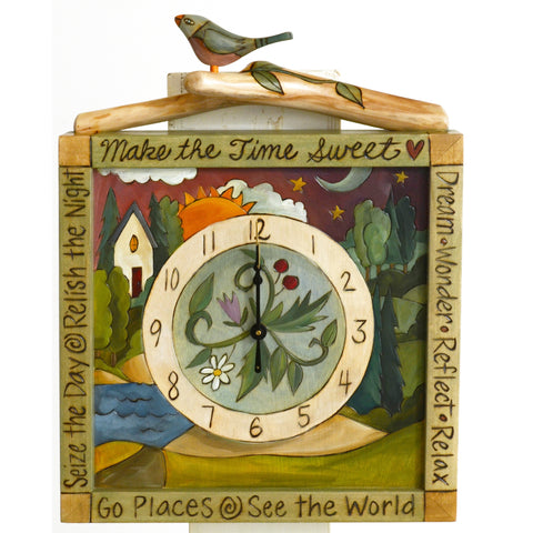Sticks Wall Clock CLK006, D73345, Artistic Artisan Designer Clocks
