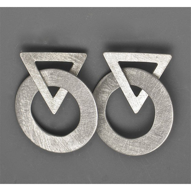 Suzanne Linquist Red Circle Metals Earrings 7E60 Artistic Artisan
