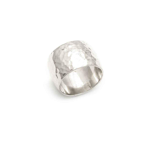 Tamara Kelly Designs Hammered Cigar Band Ring TKHR39 Wearable Art Jewelry