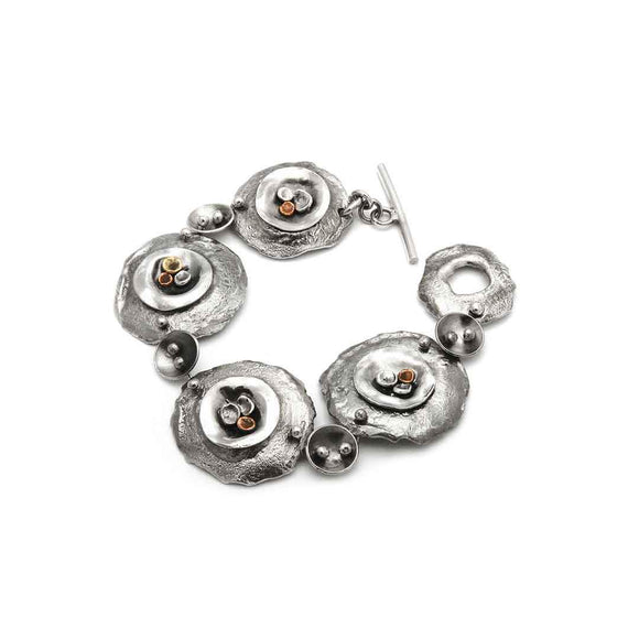 Tamara Kelly Designs Link Bracelet with Pods TKPB7 Wearable Art Jewelry