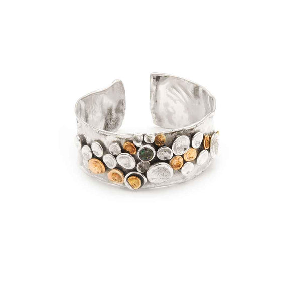 Tamara Kelly Designs Pebbles Cuff Bracelet TKPC200 Detail Wearable Art Jewelry