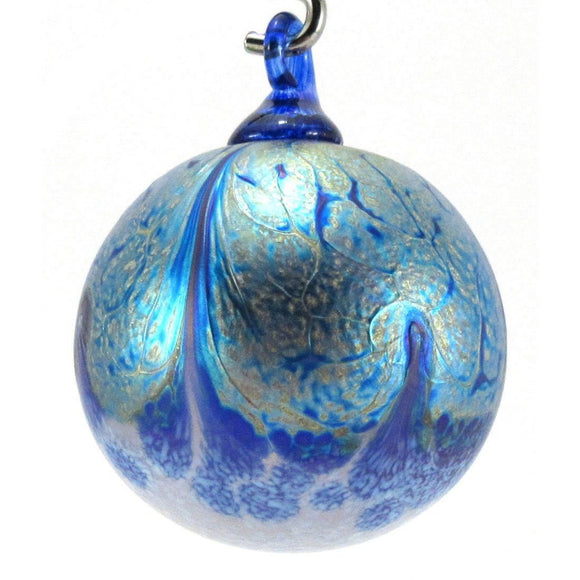 The Furnace Glassworks Alchemy Ornament Shown In Apatite Artisan Handblown Art Glass Ornaments