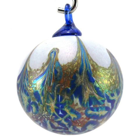 The Furnace Glassworks Alchemy Ornament Shown In Mineral Blue Artisan Handblown Art Glass Ornaments