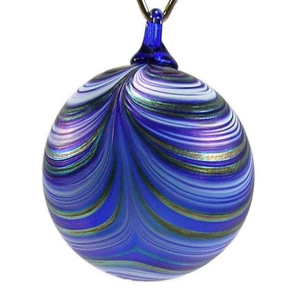 The Furnace Glassworks Ribbon Ornament Shown In Northern Lights Artisan Handblown Art Glass Ornaments